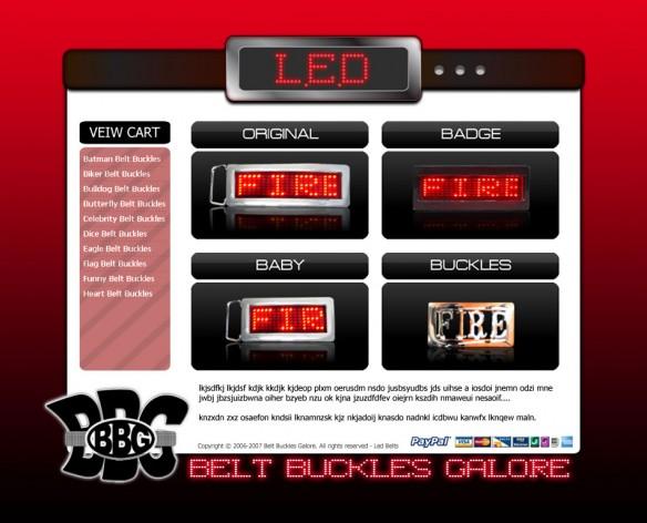 Belt Buckles Galore Graphic Design Concept