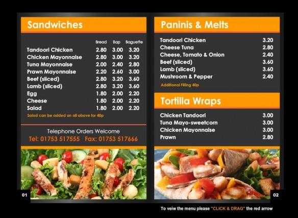 Cafe 3G Interactive Online Menu