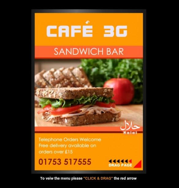 Cafe 3G Online Menu